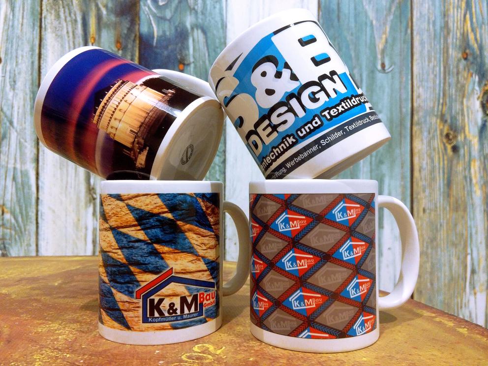 Bedruckte Tassen